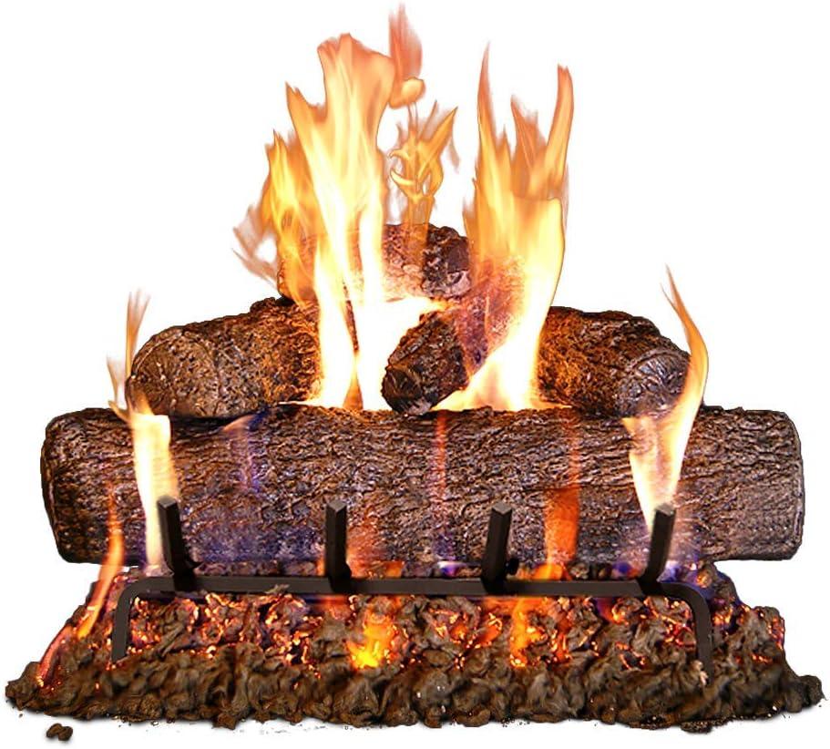 Peterson Real Fyre 20 inch Live Oak Log Set With Vented Burner, Match Lit  Natural Gas Only