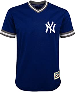 MLB Youth 8-20 Mesh Team Color Cooperstown V-Neck Jersey