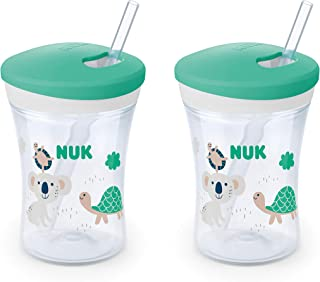 NUK Evolution Straw Cup, 8 Oz, 2-Pack