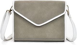 Docooler Vintage Women Shoulder Bag Faux Nubuck Leather V Shape Flap Envelope Elegant Crossbody Messenger Bag