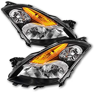 JSBOYAT Headlights Assembly for 2007-2009 Nissan Altima Sedan 4 Doors Halogen Headlamps Replacement, Driver and Passenger Side