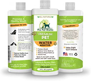 Premium Pet Dental Water Additive for Dogs Cats & Small Animals-Dog Dental Care for Bad Pet Breath-Oral Mouth Care That Fi...