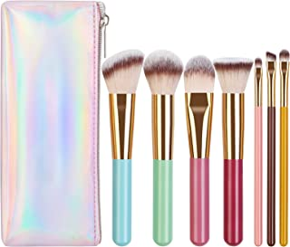 Breteil Makeup Brushes, Professional Travel Makeup Brush Set Premium Synthetic Colorful Foundation Face Powder Blush Eyeshadow Make Up Brushes Kit with Case