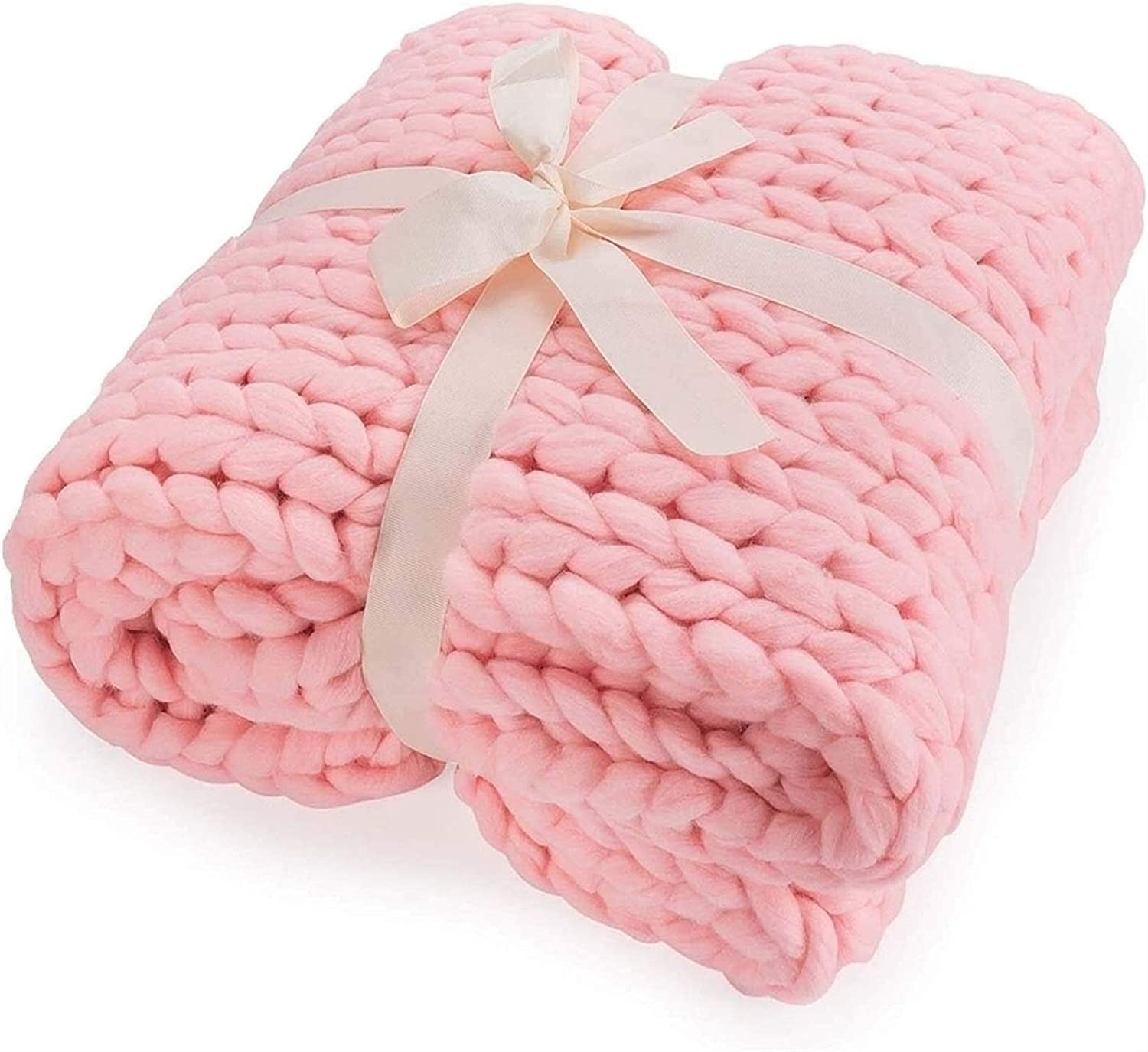 ZCXBHD Knitted Challenge the lowest price of Japan ☆ Blanket Chunky Braided Throw latest Knot Crochet Knit Ve