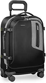 BRX-Explore Softside Expandable Carry-On Spinner Luggage, Black