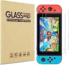 PHONILLICO Verre Trempe pour Nintendo Switch [Pack de 2] Film Protection Resistant Vitre Protecteur Anti Rayure