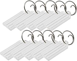 Lucky Line Key Tag with Tang Easy Key Ring, Clear, Box of 100 (1230010)