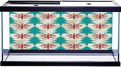 Adhesivo de papel pintado con diseño de árbol de Navidad, 48 x 18 pulgadas