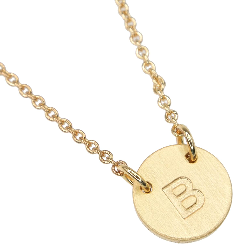 BN1029G3 BN1029S3 Lauren-Spencer Initial Alphabet A-Z Customized Personalized Monogram Minimalist Necklace
