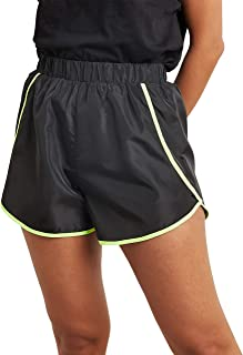 Neon Contrast Piping Detail Runner Shorts 80390101 For Women Closet by Styli