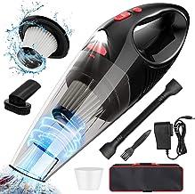 WOPULITE Handheld Vacuum Cordless Hand Vacuum Cordless Powerful Cyclonic Suction Portable Vacuum Cleaner Battery Rechargea...