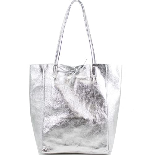 Ladies Handbags Soft Italian Real Leather Shopper Tote Bags Women Girls  Shoulder Handbags for Women