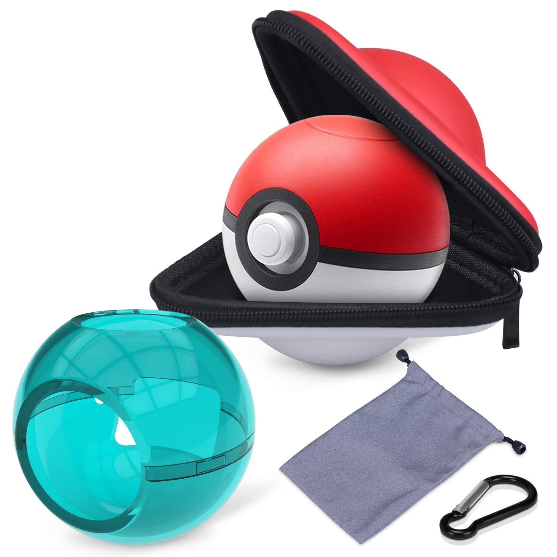 HEYSTOP Estuche de Transporte para Pokemon Poke Ball Plus, Funda Portátil de Viaje Rígido Protector para Nintendo Switch Pokémon Lets Go Pikachu Eevee Game Accesorios: Amazon.es: Electrónica
