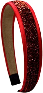 Girls Satin and Glitter Arch Headband By Funny Girl Designs - Many Colors Available