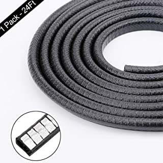 Car Door Edge Guards, Anumit 24Ft U Shape Rubber Seal Trim Car Door Protector Car Protection Universal Exterior Accessories Anti-Collision Rubber Clips Fit for Most Car Pickup Trucks