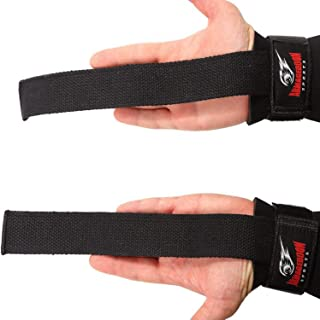 Armageddon Sports Wrist Straps for Weight Lifting with Premium Padded Wrist Wraps Support, Perfect for Deadlifting, Pull Up, Bar Workout, Gym, Weightlifting - Improves Grip for Men and Women