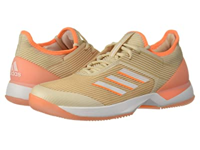 adidas adizero Ubersonic 3 (Linen/Footwear White/Flash Orange) Women