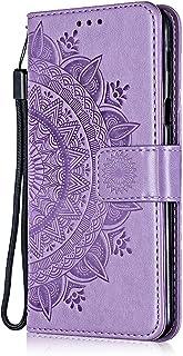 The Grafu Galaxy S6 H/ülle Hellviolett Schmetterling Blumen Muster Standfunktion Schutzh/ülle Handyh/ülle f/ür Samsung Galaxy S6 PU Leder H/ülle