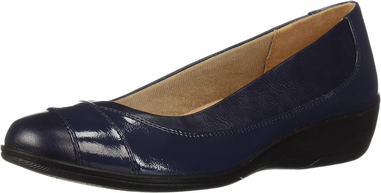LifeStride Women's ILARA Loafer Flat Navy 6.5 2W US