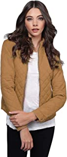 Women's Fine Quality Quilted Design Lined Hoodie Zipper Closure Jacket