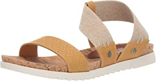 Yellow Box Women's Meera Sandal, marigold, 7 M US