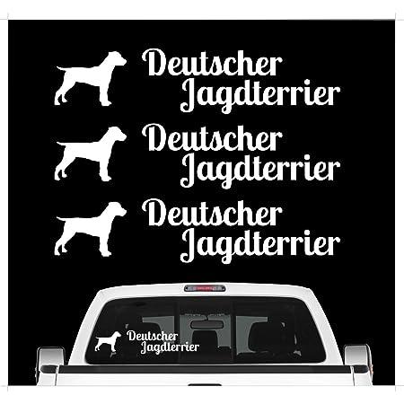 Auto Aufkleber Jagdhund Digi Deutscher Jagdterrier Hundeaufkleber Siviwonder Jagd Auto