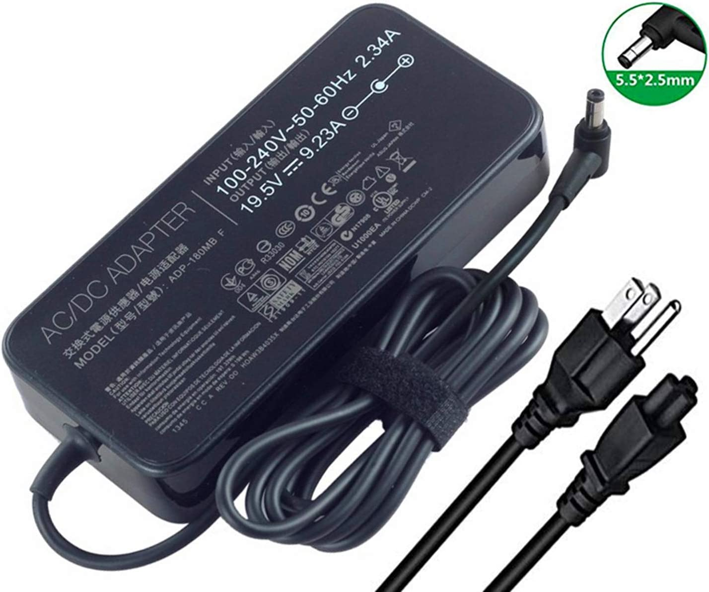 New 19.5V 9.23A 180W Laptop Charger AC Max Boston Mall 81% OFF FA180PM111 F Po ADP-180MB