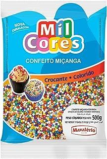 Mavalerio Mil Cores, Gluten Free, Rainbow Nonpareils Food Decorative, Bakery cake ice cream decorating 500GR