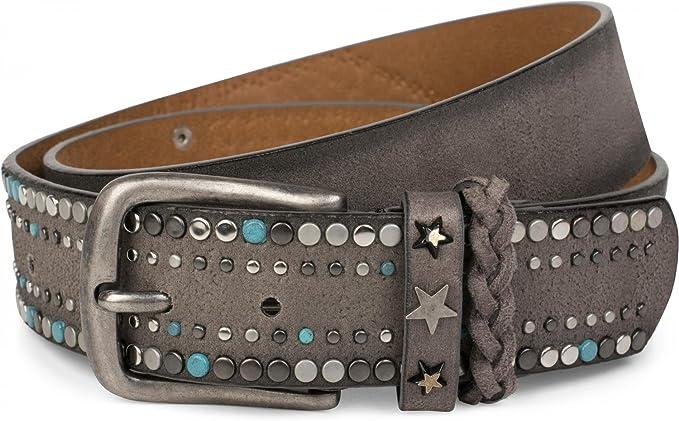 24 opiniones para styleBREAKER cinturón de remaches de un material suave con tachuelas y remaches