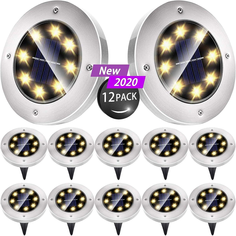 Biling Solar Disk Long-awaited Low price Lights Outdoor Light Ground 8 Bulbs LED