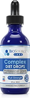 BioSource Labs Complex Diet Drops – Weight Loss Drops for Rapid and Lean Loss, Best Natural Metabolism Booster Plus Free Slenderizing Meal Plan for Men and Women (2-Ounce Bottle)
