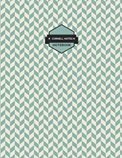 Cornell Notes Notebook: Blue Chevron Notes Paper (Science and Math Guided School Notebooks)