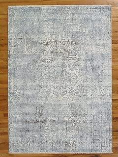silver viscose rug