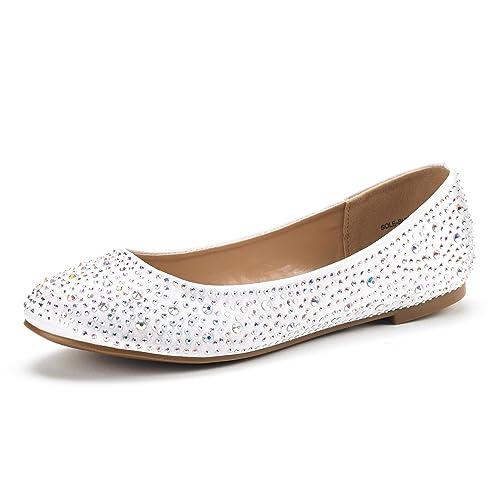398ecd0993adb4 DREAM PAIRS Women s Sole-Shine Rhinestone Ballet Flats Shoes
