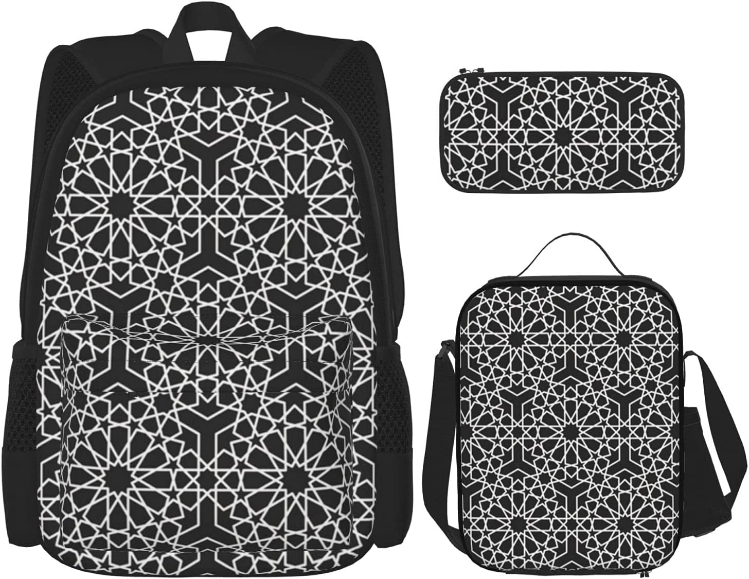 Backpack Bags Simple Islamic safety Geometric Lunch with Pattern Easy-to-use Bag Ba