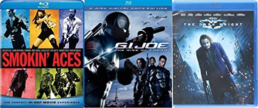 Comic Book Action Triple Feature - The Dark Knight (2-Disc Special Edition), G. I. Joe: The Rise of the Cobra (2-Disc Digital Copy Edition) & Smokin' Aces (Blu-ray/DVD/Digital Copy) 3-Movie Bundle