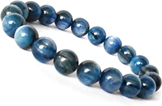 "Jaipur Gems Mart Naturel AAA Bleu Cyanite Bracelet Extensible Bracelet Longueur 7-7,5/"" Blue Kyanite Bracelet Pierres pr/écieuses Hommes Perles Bracelet 6 mm Perles Forme Ronde Bracelet Unisexe"