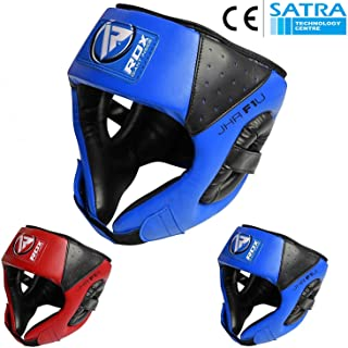 RDX Boxing Headguard Kids MMA Junior Headgear for Fighting Kickboxing Head Guard Training Sparring Martial Arts Youth Head Protector for Children Muay Thai Taekwondo Karate Judo (CE Certified)
