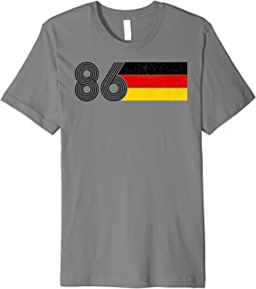 Vintage 86 Germany Flag Deutschland 1986 Birthday Premium T-Shirt