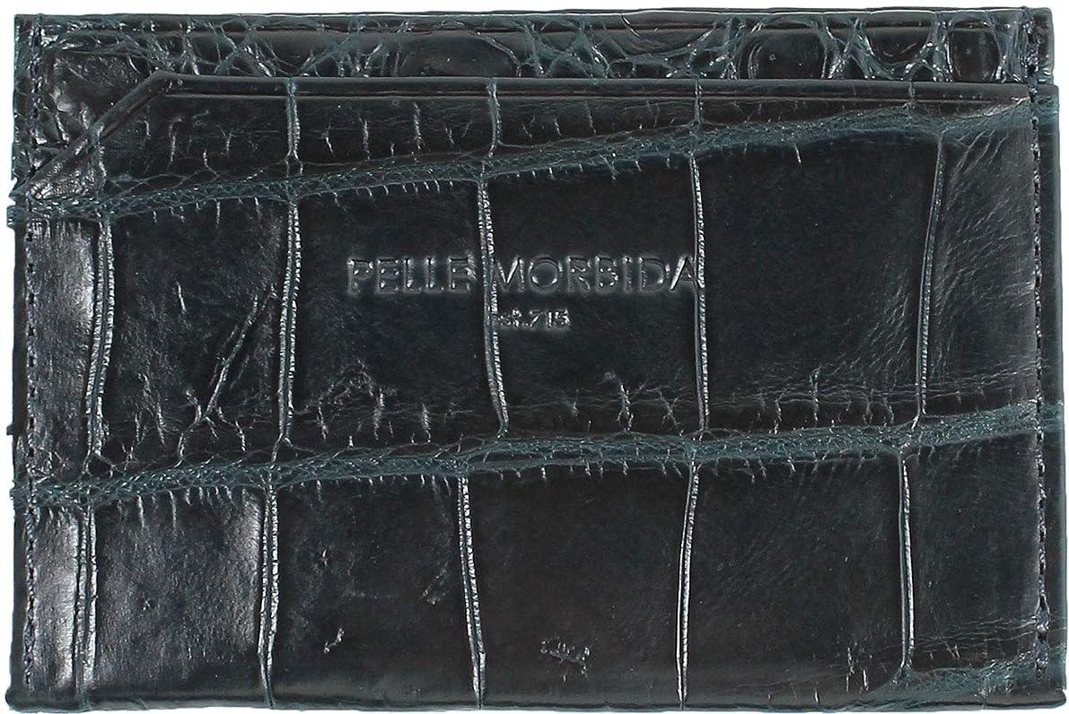 モデレータなにレコーダーPELLE MORBIDA ペッレモルビダ クロコダイルレザー パスケース PMO-CRS009 NVY (ネイビー)