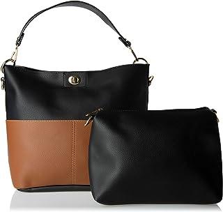 حقائب الكتف للنساء - اسود وبني