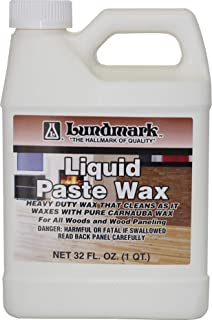 Lundmark Liquid Paste Wax with Carnauba Wax, 32-Ounce, 3208F32-6