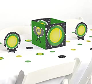 Big Dot of Happiness You Got Served - Tennis - Baby Shower or Tennis Ball Birthday Party Centerpiece & Table Decoration Kit