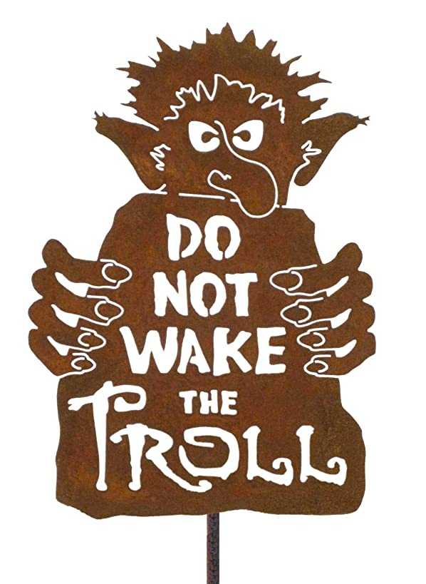 Do Not Wake the Troll Steel Yard and Garden Sign