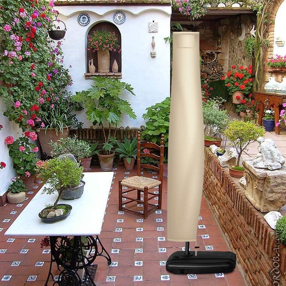 Custodia protettiva per ombrellone da 240 cm in stile banana tessuto Oxford 420D, cachi, 240 x 33 x 45 cm impermeabile Flashbee con chiusura lampo