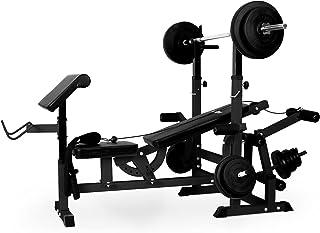 Klarfit Workout Hero 300 - krachtstation, fitnessstation, trainingsstation, bankdrukken, trekkabel, krultafel, beenkrultan...