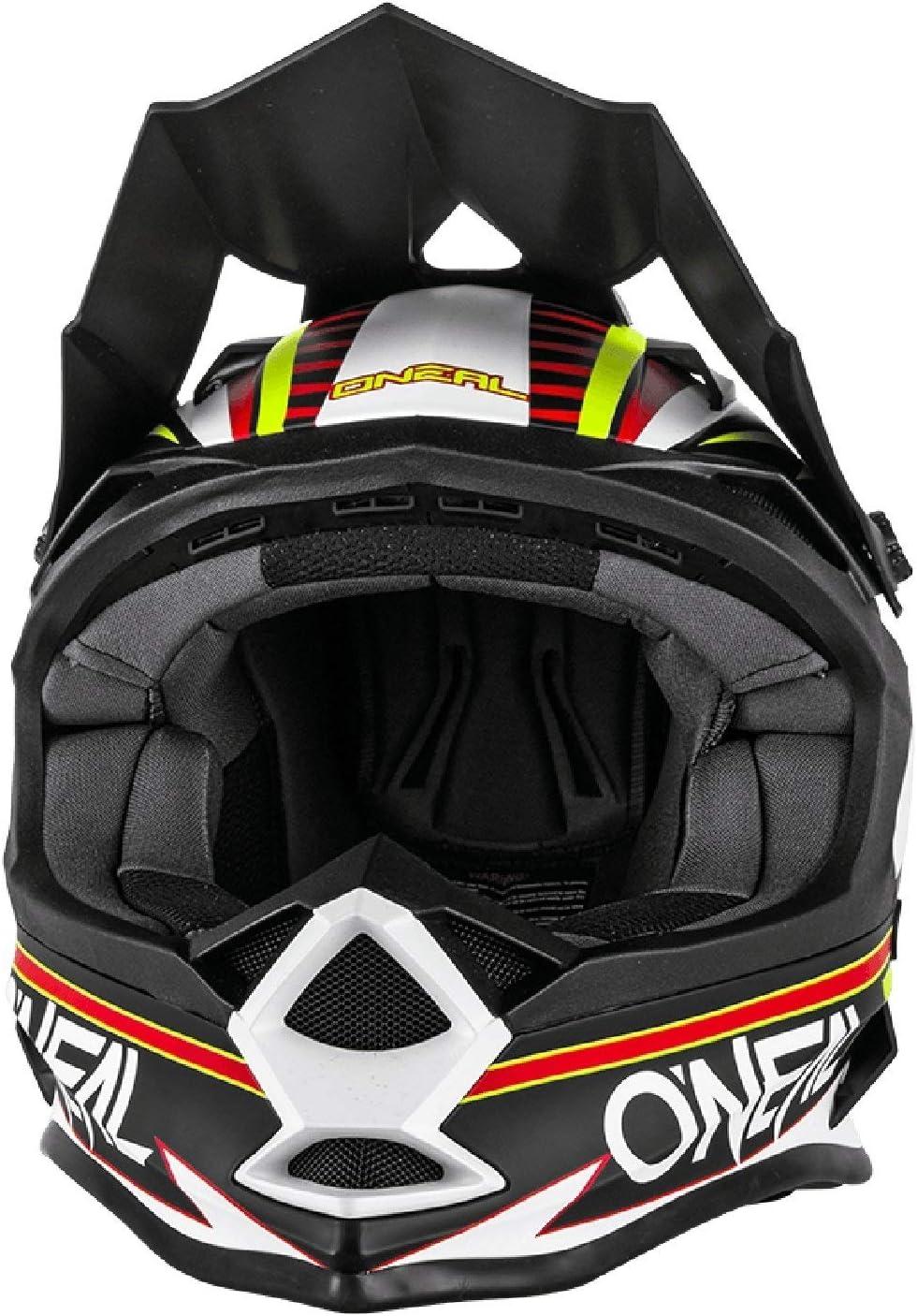 O Neal 7 Series Evo Motocross Enduro Mtb Helm Chaser Schwarz Weiß Gelb 2018 Oneal Größe M 57 58cm Bekleidung
