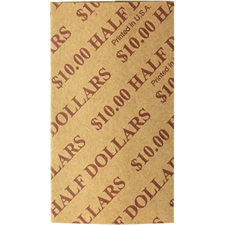 INC Half Dollar Coin Wrappers 124 Count Preformed and Crimped on One End N F STRING /& SON