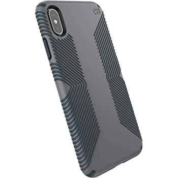 Speck Products Presidio Grip iPhone Xs Max Case, Graphite Grey/Charcoal Grey, Model:117106-5731