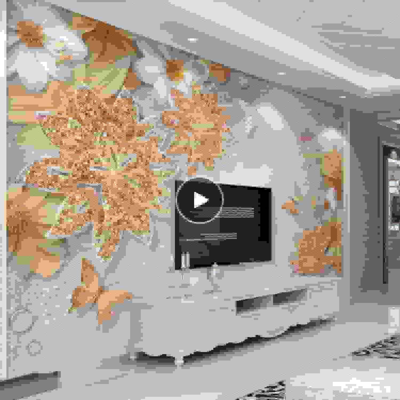 los nuevos estilos calientes Lifme Papel Tapiz Mural Personalizado Personalizado Personalizado Para Las Parojoes Del Dormitorio 3D De Lujo De Joyería De oro Flor De Fondo De La Mariposa Papeles De Parojo Decoración Para El Hogar Sala De Estar-200X140Cm  promociones de descuento